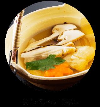 松茸と海老の土瓶蒸し